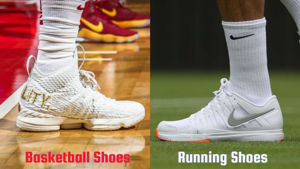difference between basketball shoes and running shoes